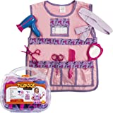 Hairdresser Costume for Girls - Kids Hairdressing Kit - Dress Up Clothes - Pretend Play Set W/ Durable Case by Tigerdoe