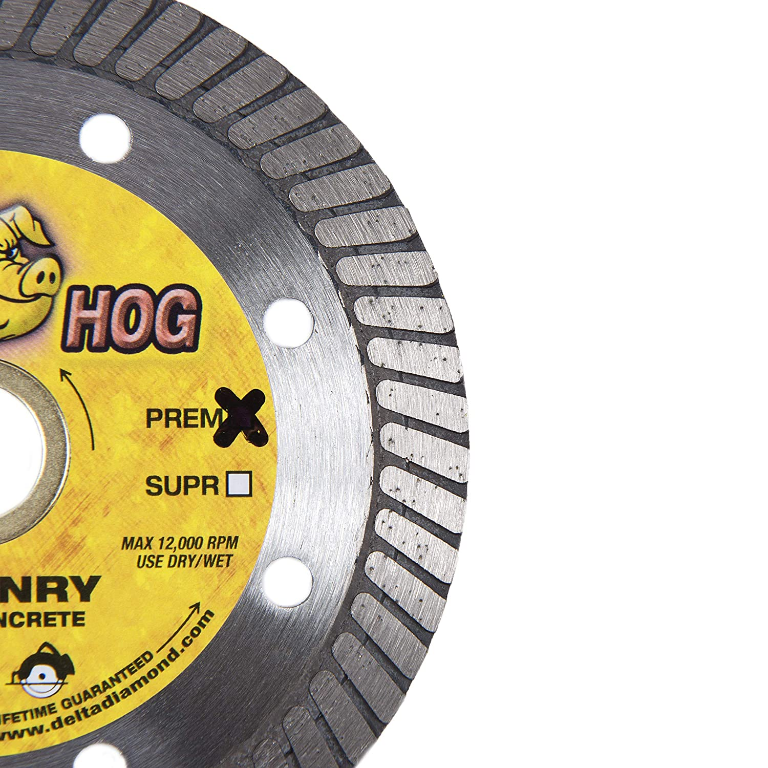 High Performance Blocks 7//8-5//8 Arbor Stone Brick Boss Hog 4-Inch Turbo Masonry Diamond Blade 4-Inch General Purpose Dry or Wet Cutting for Masonry Similar Concrete