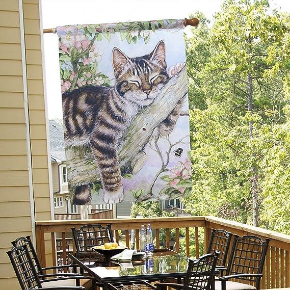 Amazon.com: layoer hogar jardín bandera 28 x 40 inch casa ...