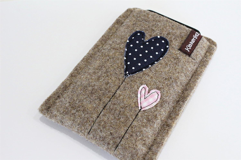 Handytasche Huawei P10 lite aus hochwertigem Wollfilz Handyhülle Schutz vor Kratzern /& Schmutz