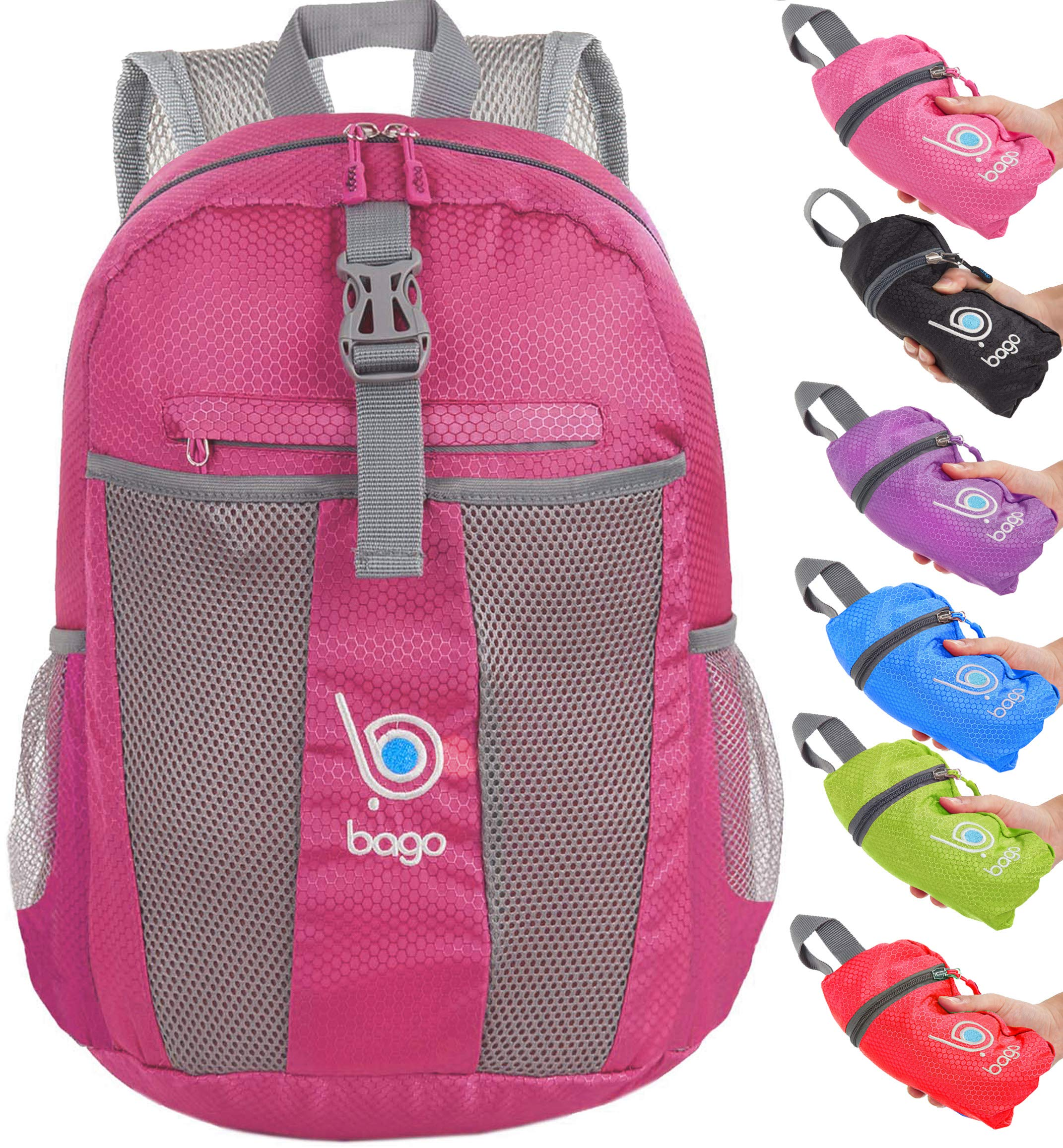 Bago Foldable Rucksack for Women and Men. Lightweight Water Resistant  Packable Backpack 19dd9d8e75b4f