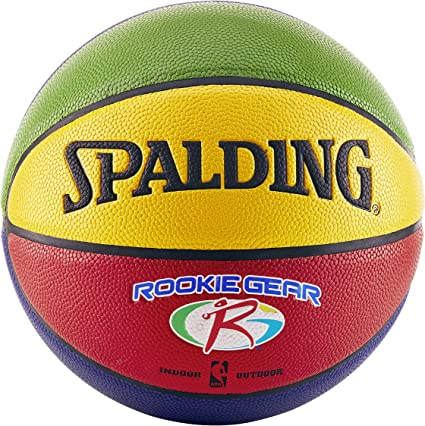 50% off great prices top design Spalding NBA Rookie Gear Multicolored Basketball, Size 5