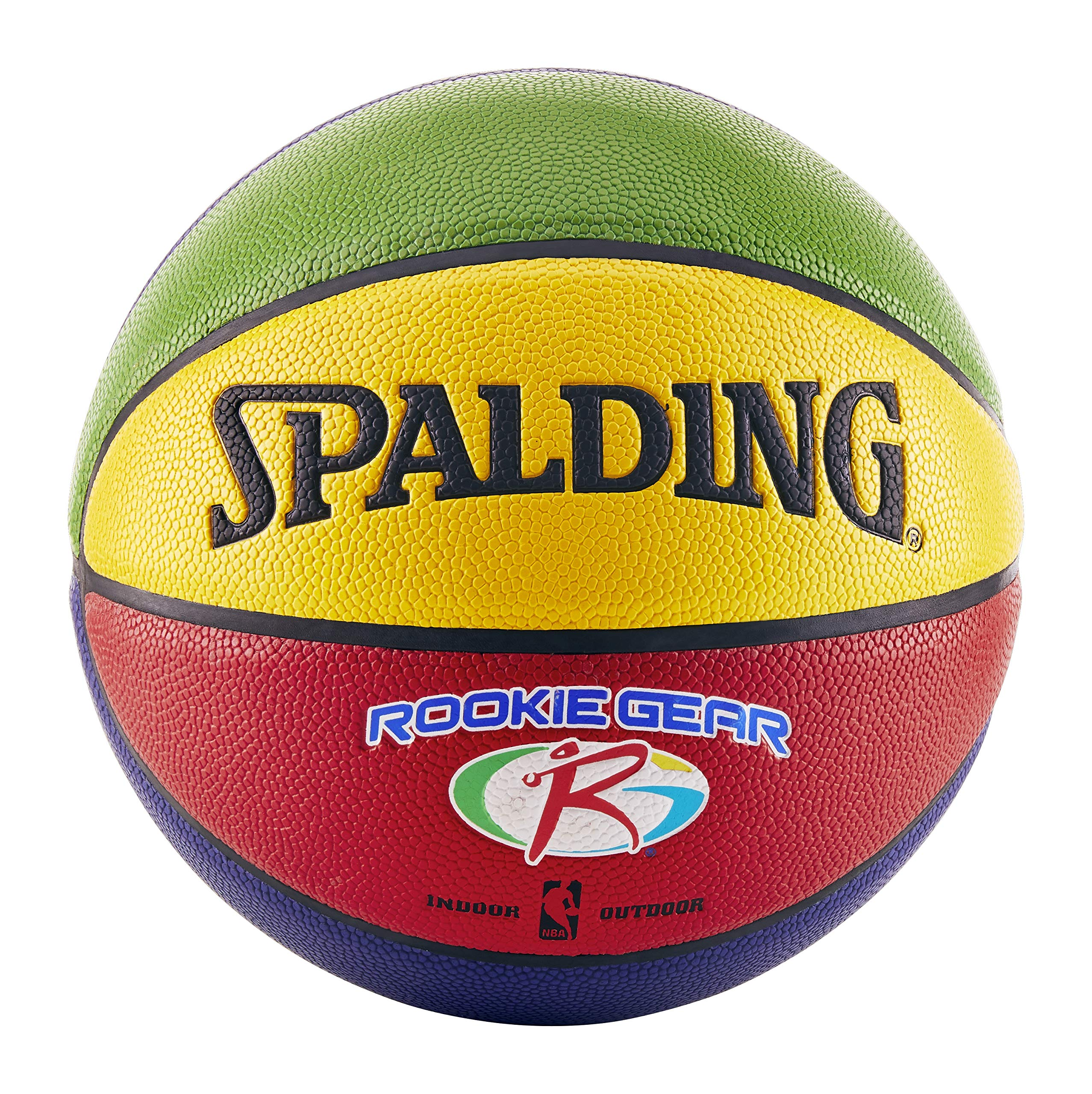 Spalding Rookie Gear Basketball - Multi-Color - Youth Size (27.5'')
