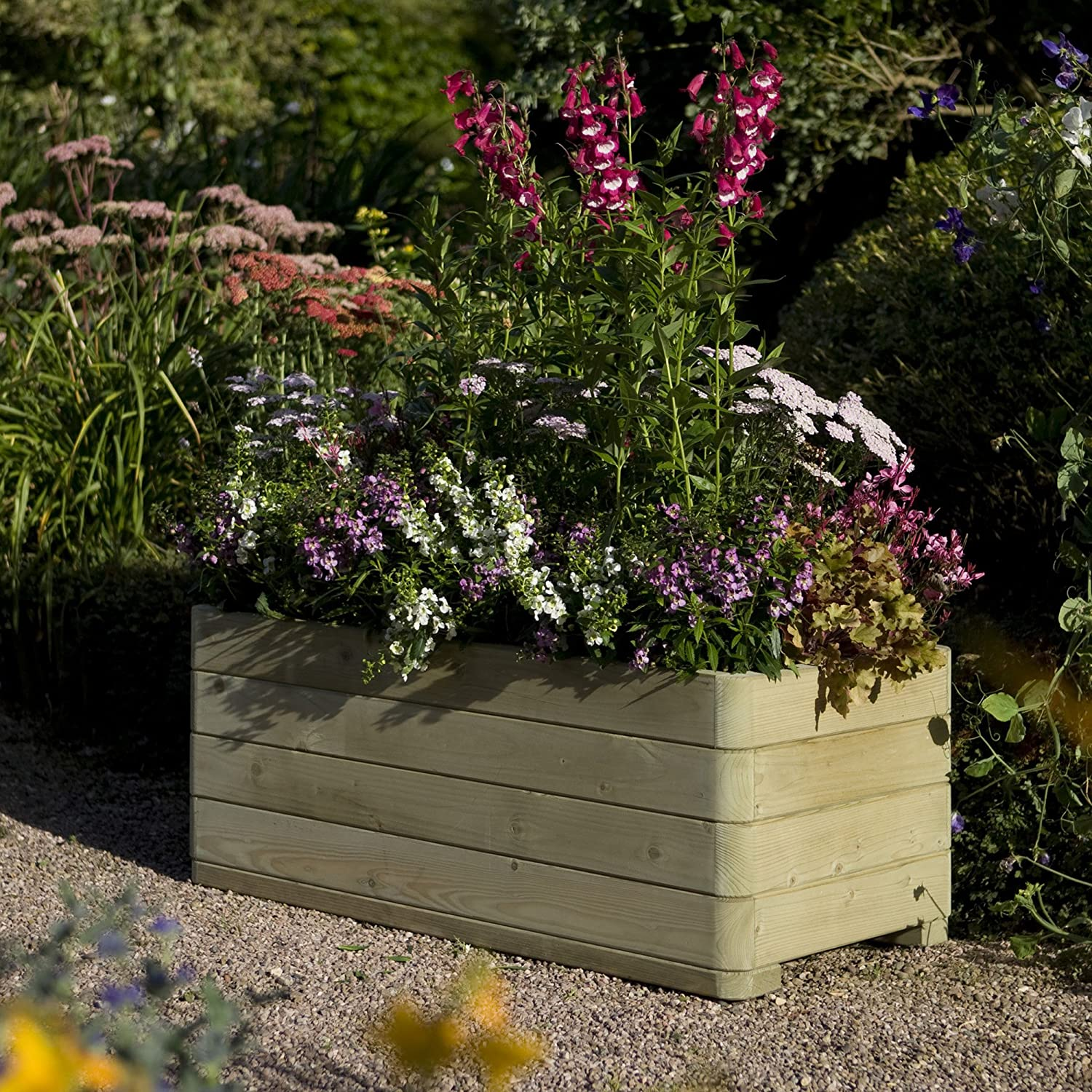 rowlinson marberry rectangular planter amazoncouk garden  - rowlinson marberry rectangular planter amazoncouk garden  outdoors