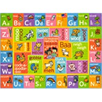 """Playtime Collection ABC Alphabet with Old McDonald's Animals Educational Learning Area Rug Carpet for Kids and Children Bedrooms and Playroom - 3' 3"""" x 4' 7"""""""