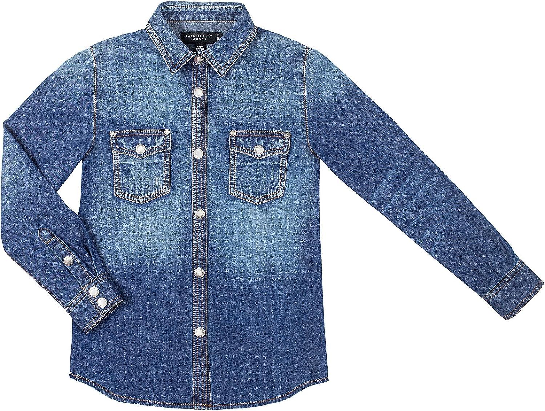 Jacob lee London Camisa Vaquera Azul Denim 5-6 años (110/116 cm): Amazon.es: Ropa y accesorios