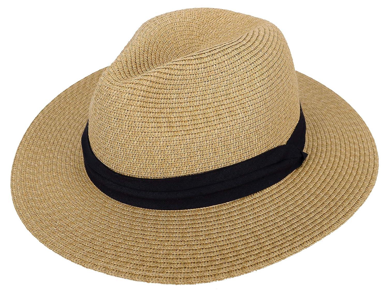 bba22a417 Simplicity Women's Wide Brim Straw Panama Sun Hat
