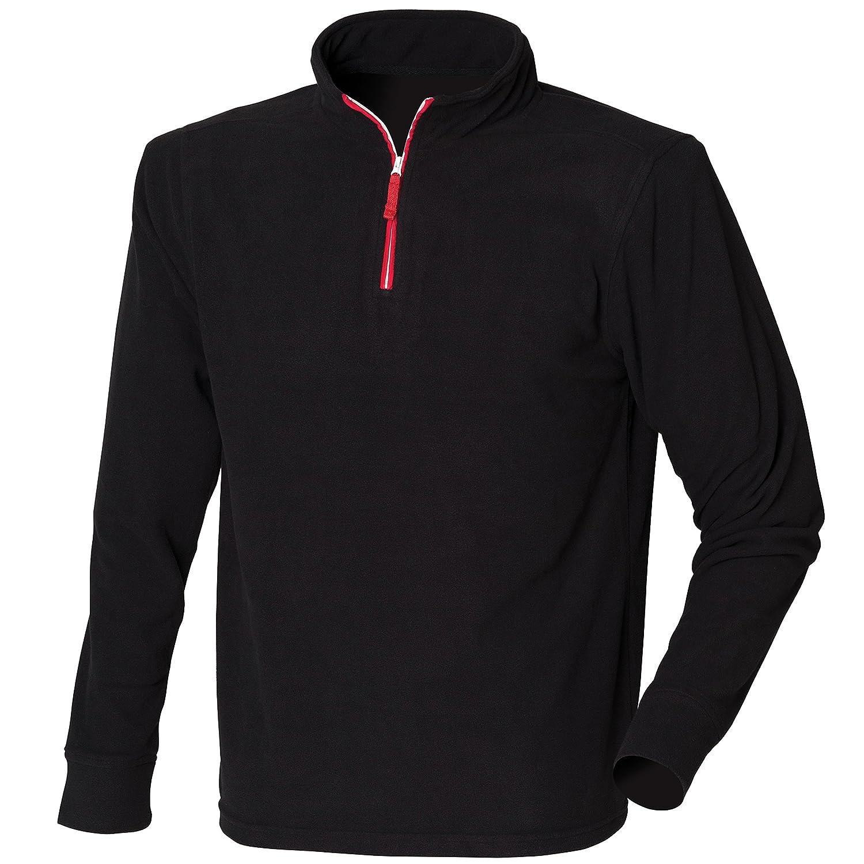 ¼ zip long sleeve fleece piped Finden & Hales
