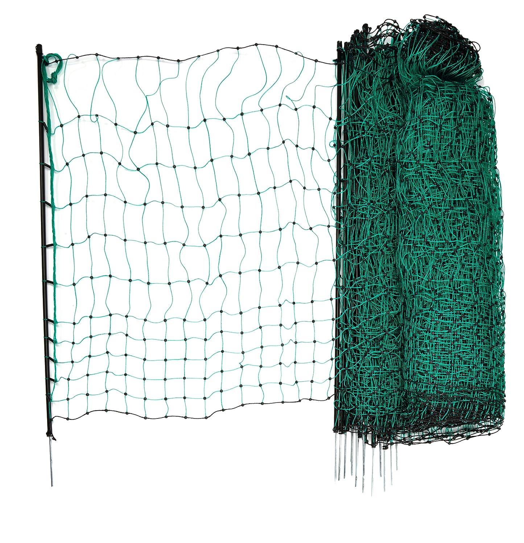 Kerbl 292208 Geflügelnetz 50 m, 112 cm Einzelspitze, ohne Strom, grün grün