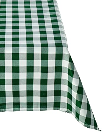 Exceptional LinenTablecloth 60 X 102 Inch Rectangular Tablecloth Green U0026 White Checker
