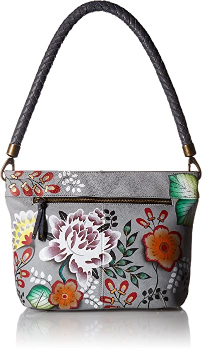 NWT Details about  / Anuschka In The Tropics  HandPainted Leather Large Shoulder Tote