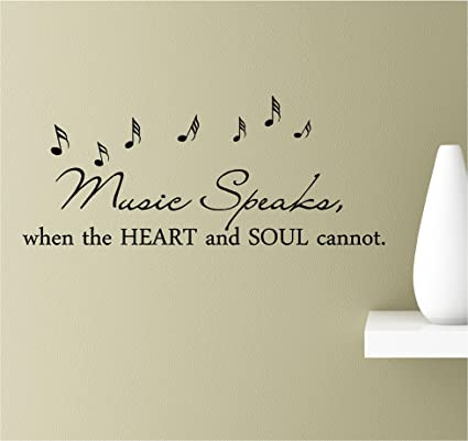 Amazon.com: Music speaks, when the heart and soul cannot ...