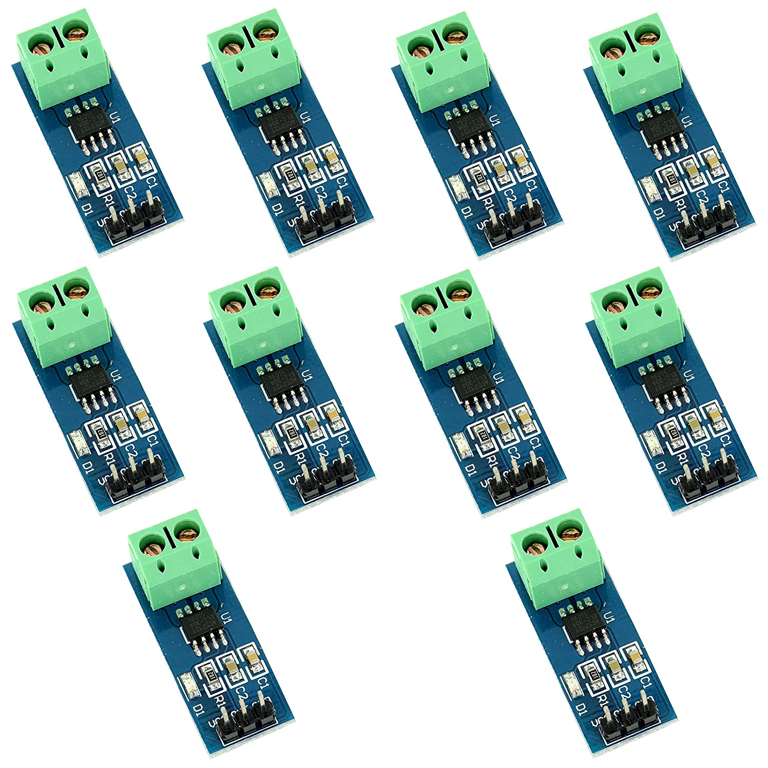 10pcs Hall Effect Current Sensor ACS712 Module 30A for Speed