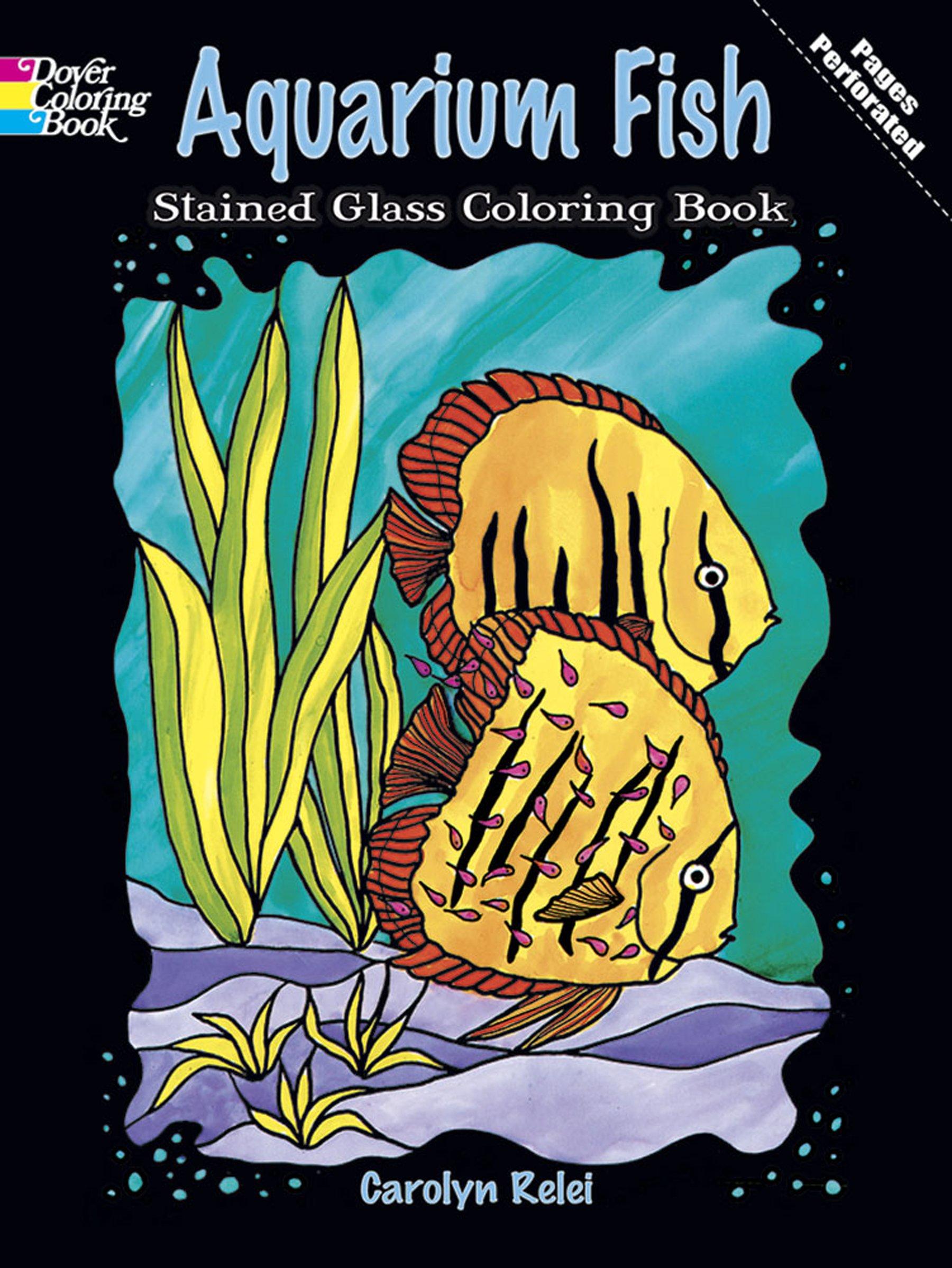 Aquarium Stained Glass Coloring Nature