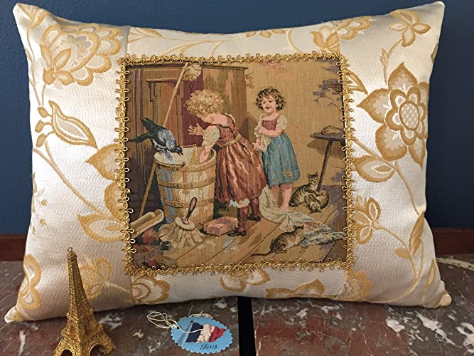 Amazon French Tapestry Pillow Vintage Tapestry Pillows French Stunning French Pillows Home Decor