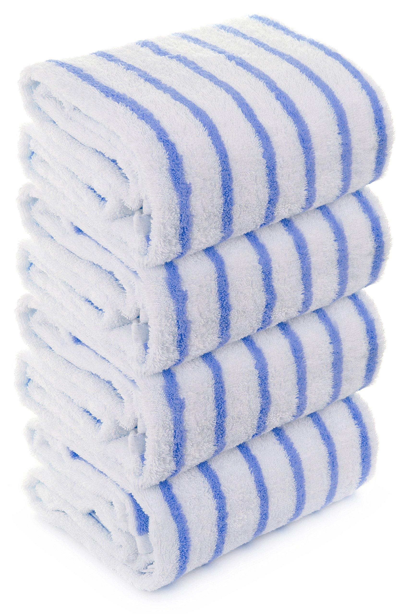 Turkuoise Thin Cabana Stripe Towel - 1