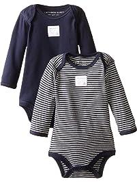 Burt's Bees Baby Set of 2 Long Sleeve Bodysuits, Bee Essentials 100% Organic Cotton