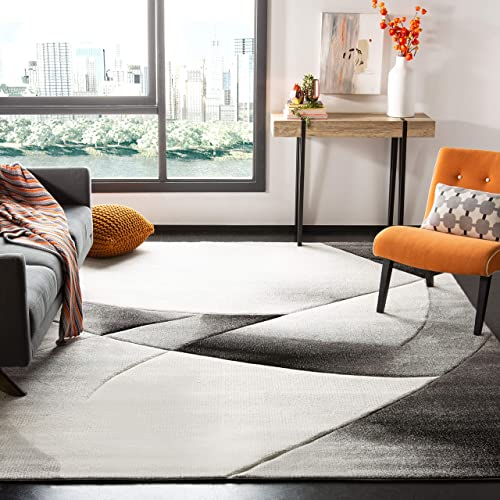 Safavieh Hollywood Collection HLW713G Grey and Dark Grey Mid-Century Modern Abstract Area Rug 2 7 x 5