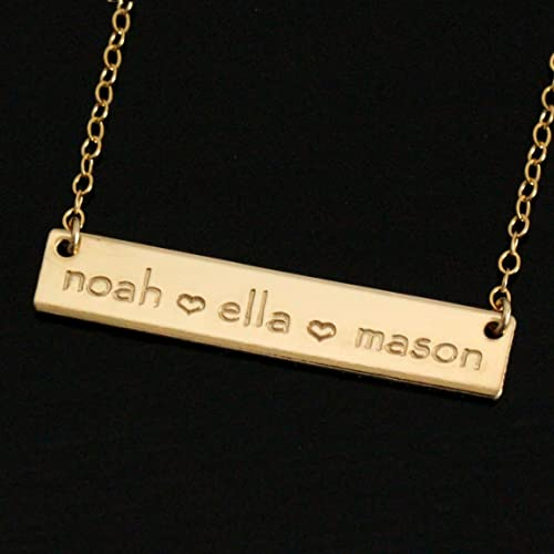 Amazon one of a kind mom gift personalized mommy necklace one of a kind mom gift personalized mommy necklace gold bar with kids names aloadofball Gallery