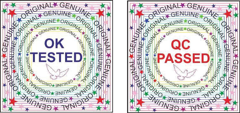 Nplabel hologram q c passed ok genuine 14 x 14 mm square shape sticker100 sticker per packet silver sticker
