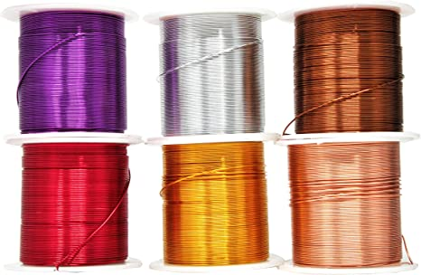 Armature Jewelry Making 16 Gauge, Combo 11 Colored and Soft Assorted 6 Rolls Garden Mandala Crafts Anodized Aluminum Wire for Sculpting Gem Metal Wrap