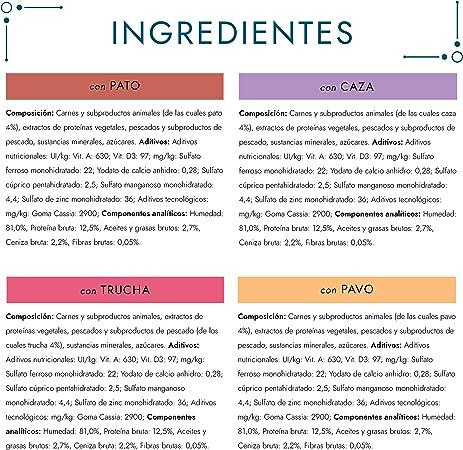 Purina Gourmet Perle Finas Láminas comida para gato en Gelatina Surtido 12 x [4 x 85 g]