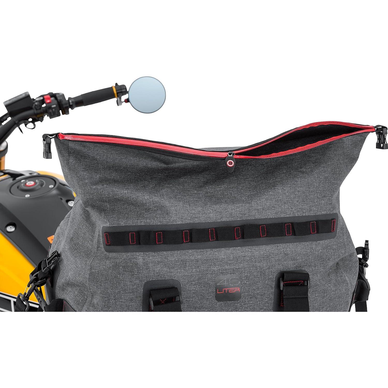 hasta 60/l QBag 09 Bolso de equipaje trasero tipo rollo para moto color gris impermeable
