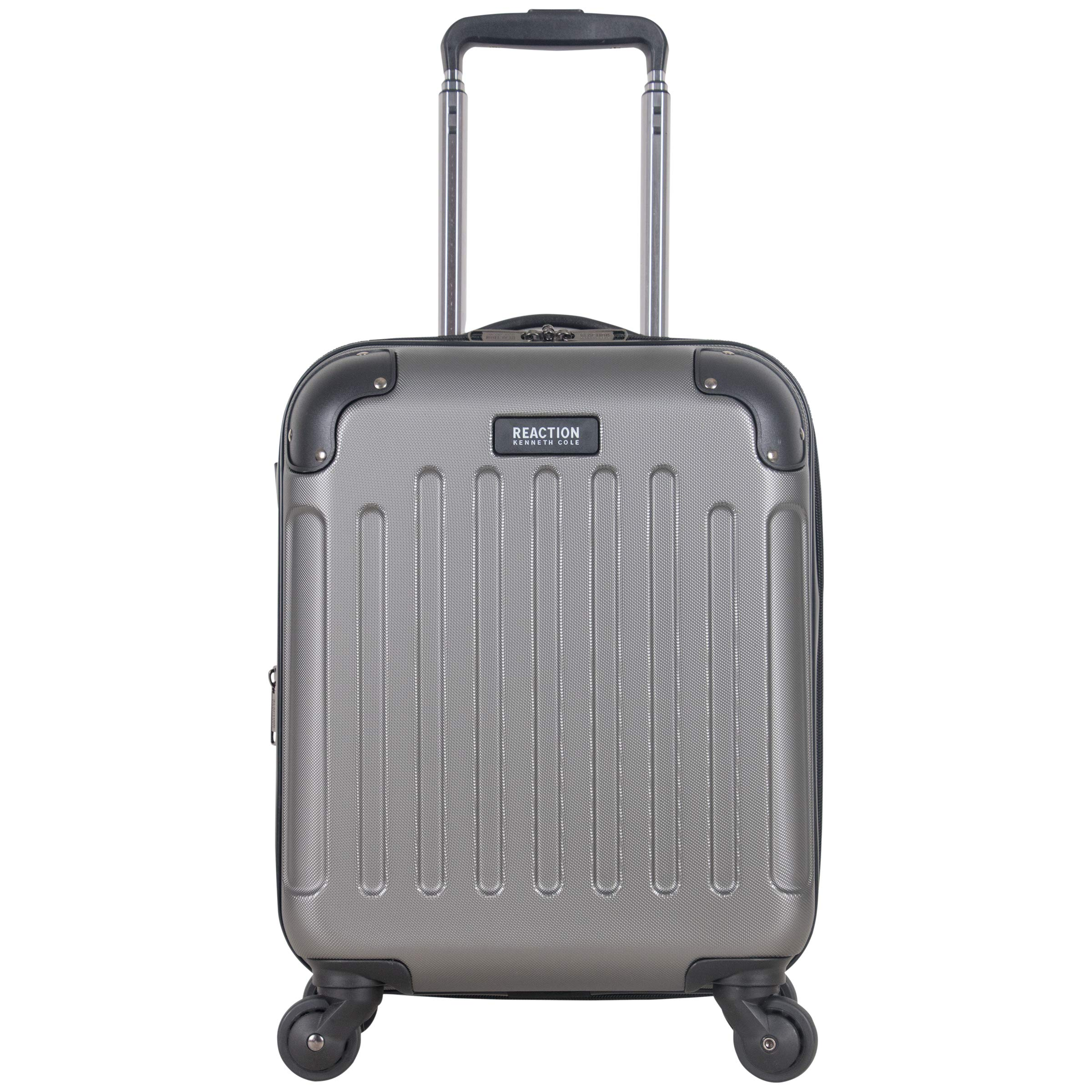 Kenneth Cole Reaction Renegade 16'' Hardside Expandable 4-Wheel Spinner Mini Carry-on Luggage, Silver