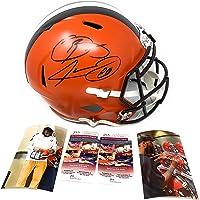 $299 » Odell Beckham Jr Jarvis Landry Cleveland Browns DUAL Signed Autograph Full Size Speed Helmet DUAL JSA Witnessed Certified