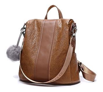 DEERWORD mujer Bolsos mochila Bolsos bandolera Carteras de mano Mochila escolar Bolsa para portátil Cuero: Amazon.es: Equipaje