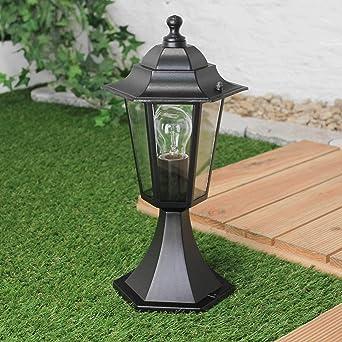 Lámpara de pedestal exterior rústica PARIS Negro E27 IP44 Lámpara exterior Ways Stand Pilar Iluminación de jardín: Amazon.es: Iluminación
