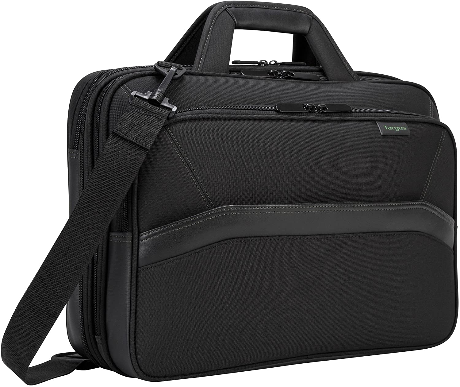 Targus Spruce EcoSmart Checkpoint-Friendly Laptop Bag for 15.6-Inch Laptops, Black (TBT256)