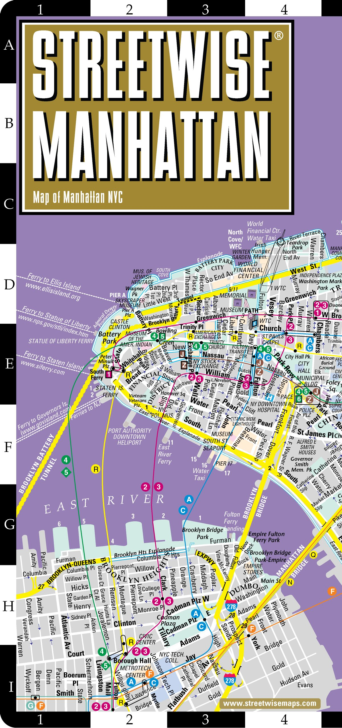 Streetwise Manhattan Map - Laminated City Street Map of Manhattan ...