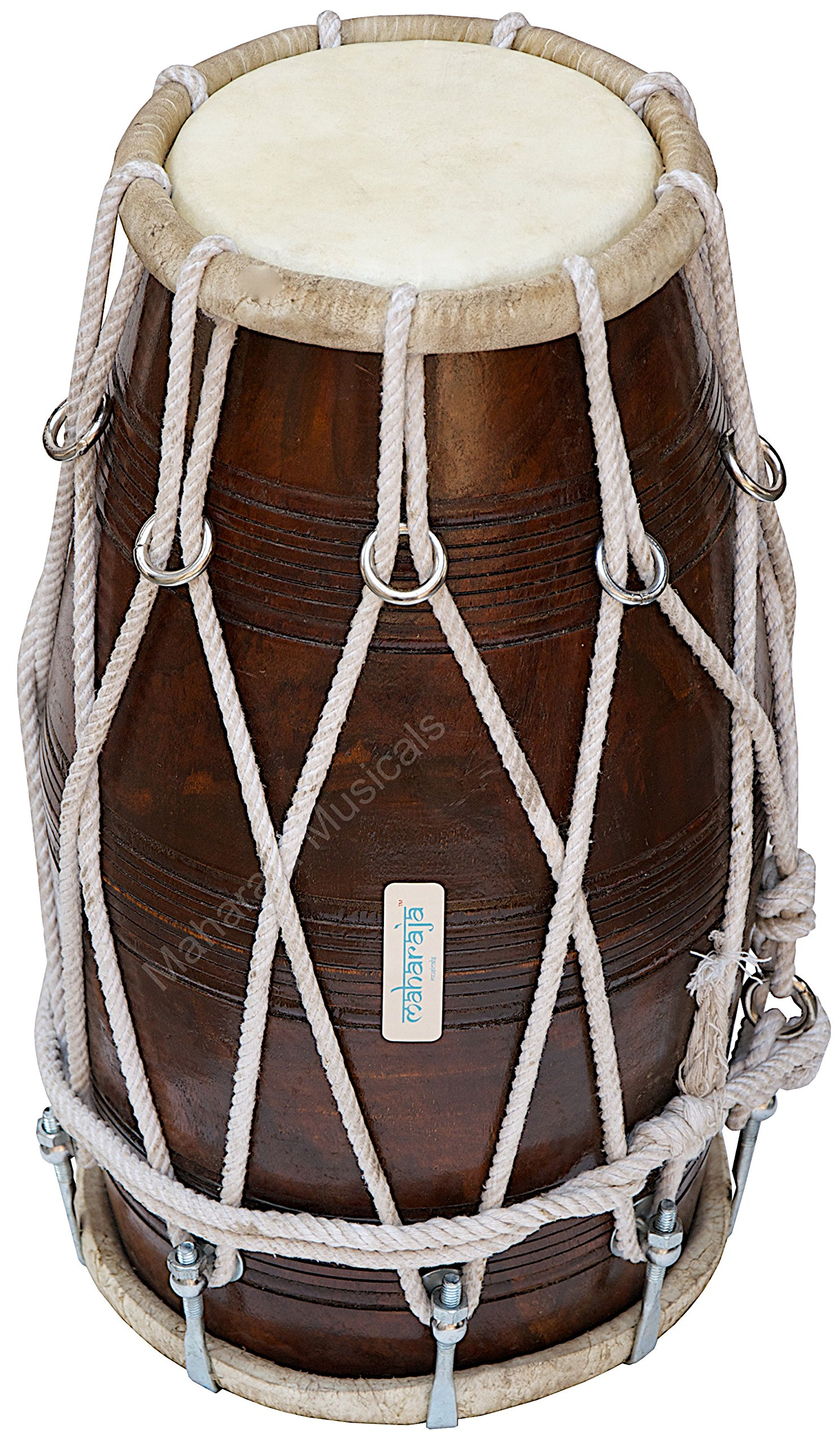 Special Dholak Drum by Maharaja Musicals, Professional Quality, Sheesham Wood, Padded Bag, Spanner, Dholki Musicals Instrument (PDI-BBC) by Maharaja Musicals (Image #3)