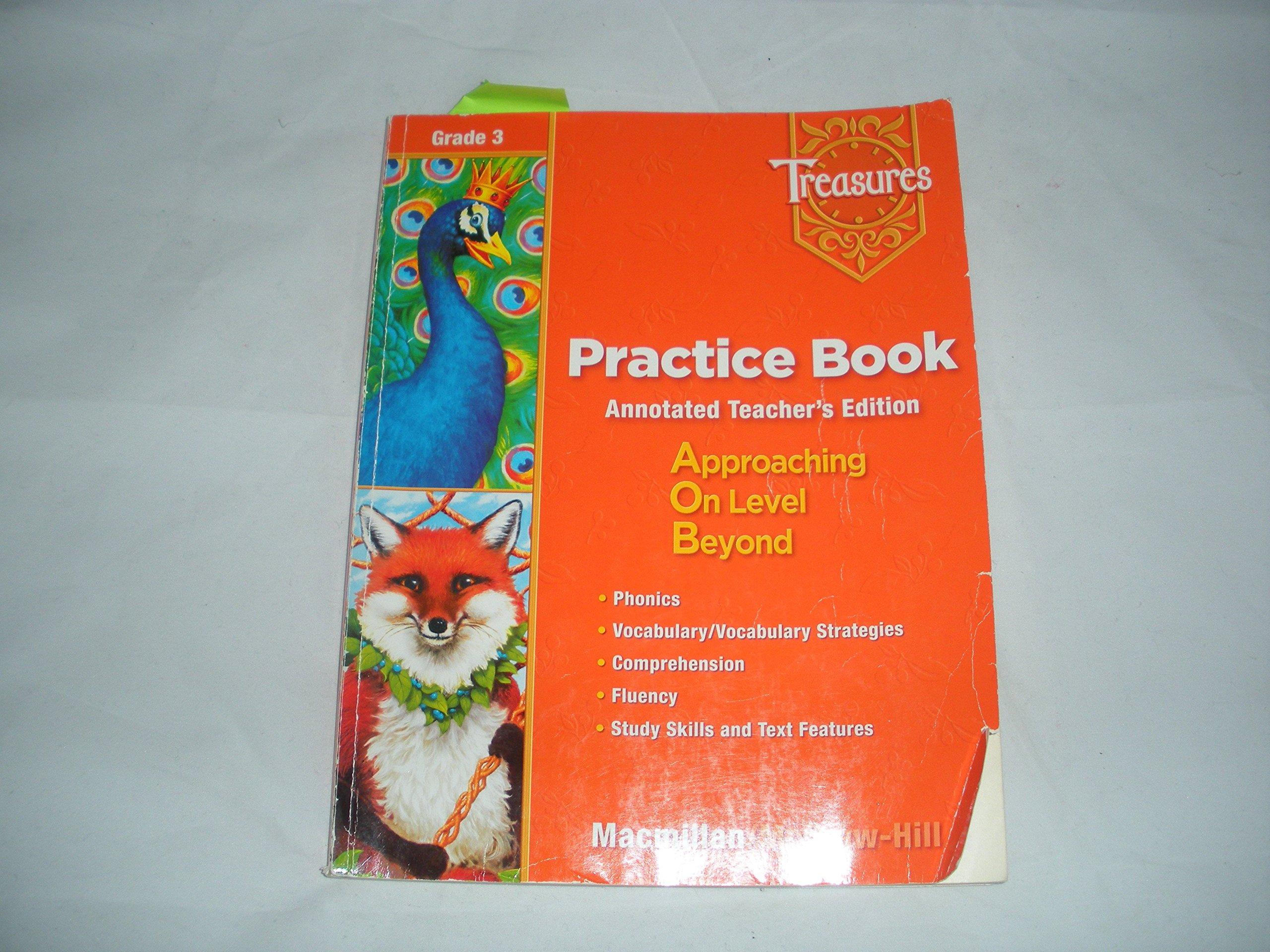 Treasures Practice Book Annotated Teacher's Edition Grade 3 (Treasures  Practice Book (Teacher's Edit: MacMillan McGraw Hill: 9780021939053:  Amazon.com: ...