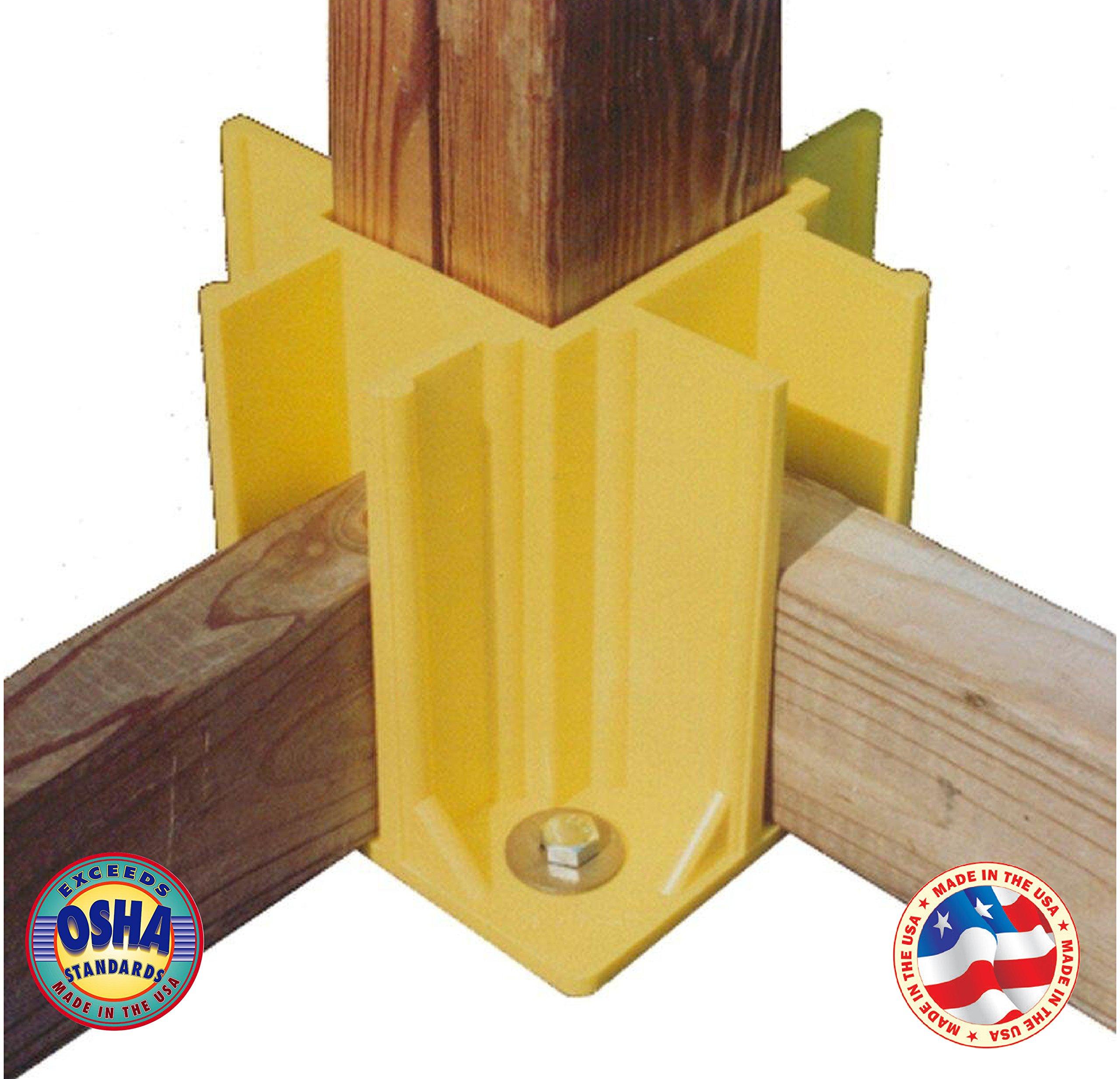 Safety Boot Yellow OSHA Temporary Guard Rail System by Safety Maker (12 Units) by Safety Maker, Inc. (Image #3)