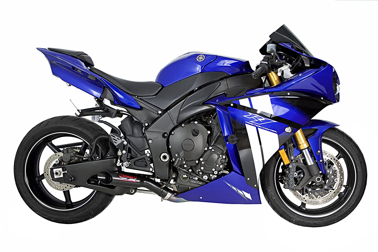 Beau Amazon.com: Coffmanu0027s Shorty Exhaust For Yamaha R1 (2009 14) Sportbike With  Black Tip: Automotive