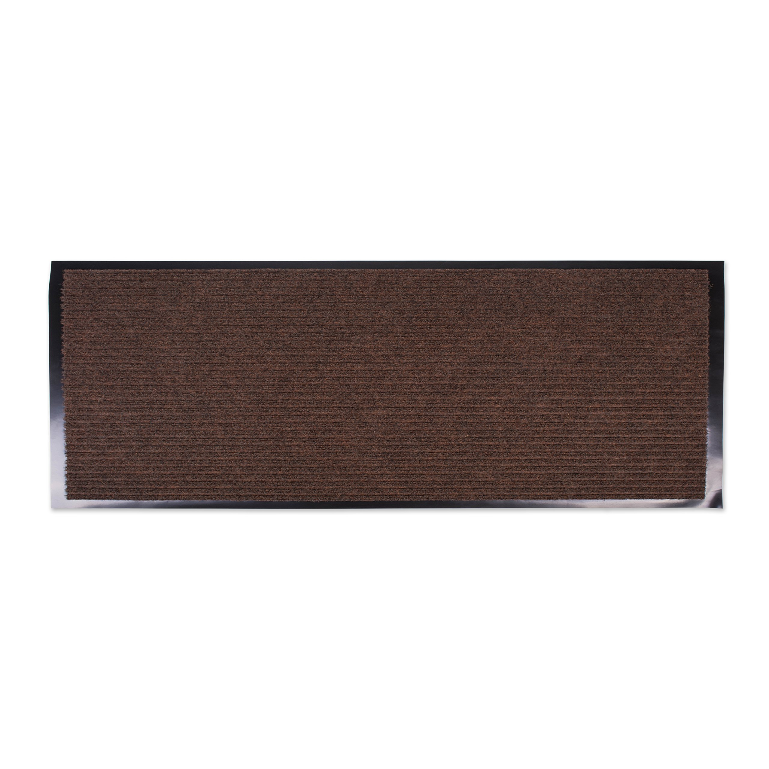 J&M Home Fashions Heavy Duty, Xtra Long Waterproof Ribbed Utility Doormat (22x60 - Brown) Entry Way Shoes Scraper for Patio, Garage, or Front Door, Trap Dirt, Debris, Mud Outside