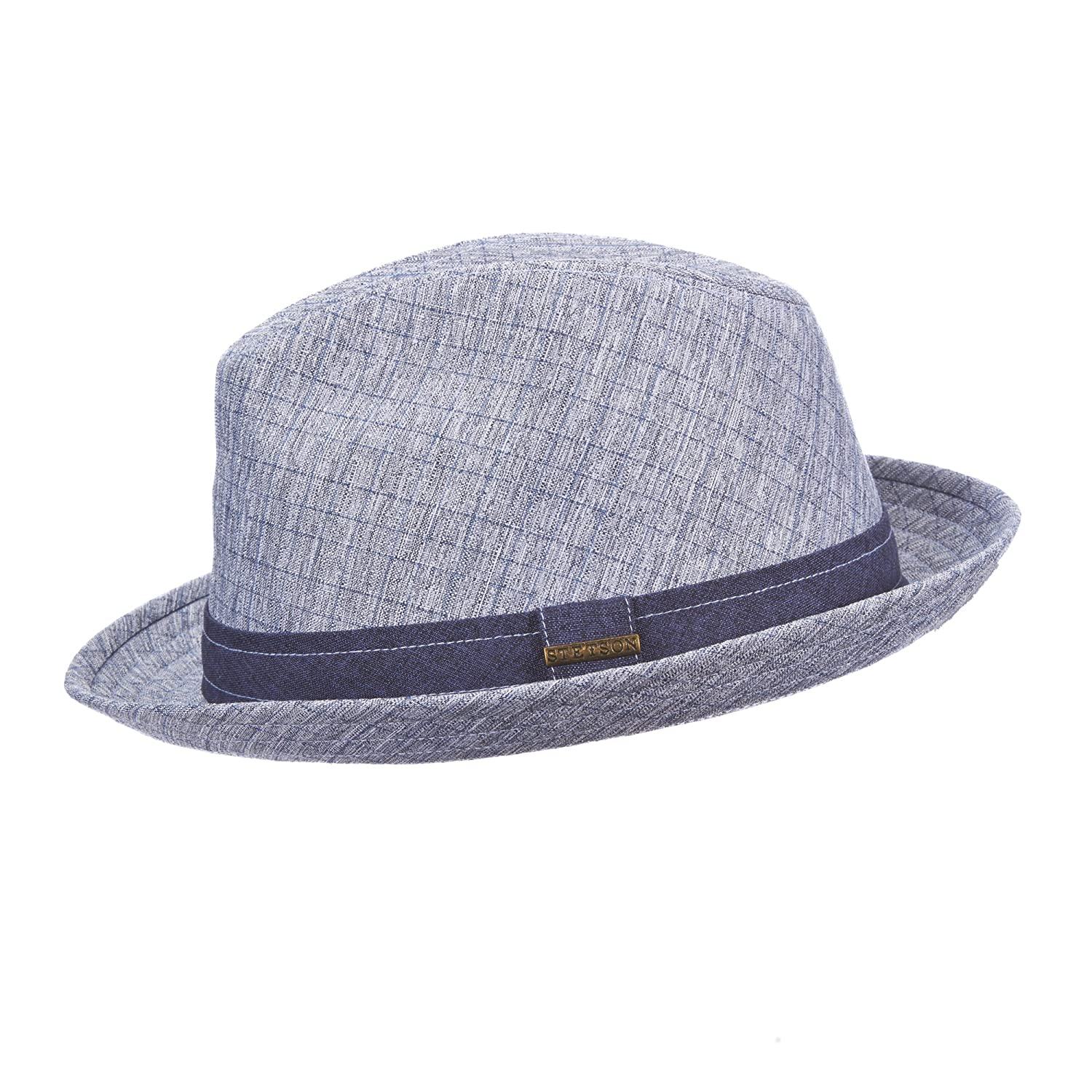 STC249 NEW STETSON CLASSIC COLLECTION POLYESTER TATTERSALL FEDORA
