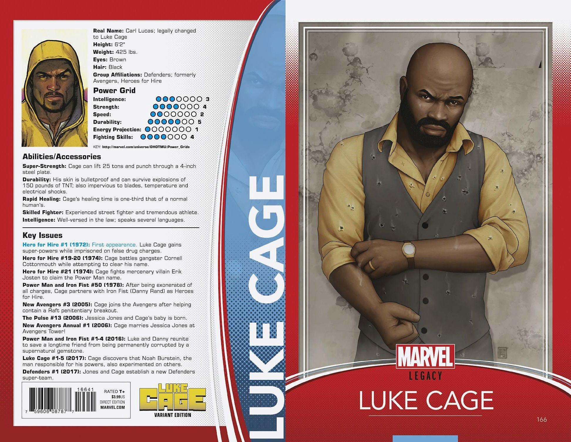 Luke Cage #166 John Tyler Christopher Trading Card Variant Marvel Legacy 2017