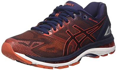 super popular e2372 4c307 ASICS Gel-Nimbus 19 [T700N-5806] Men Running Shoes Peacoat/Red Clay Size  US9.5