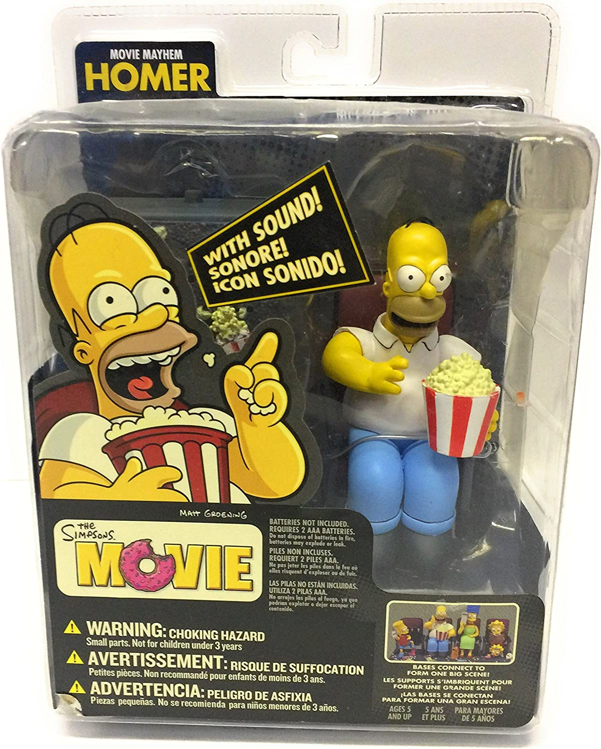 Amazon Com Official Mcfarlane The Simpsons Movie Homer Movie Mayhem Figure By Unknown Toys Games