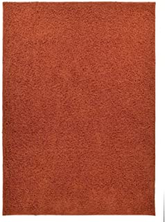 New Shaggy Collection Solid Color Shag Rug Different Color Options  Available (Burnt Orange, 3