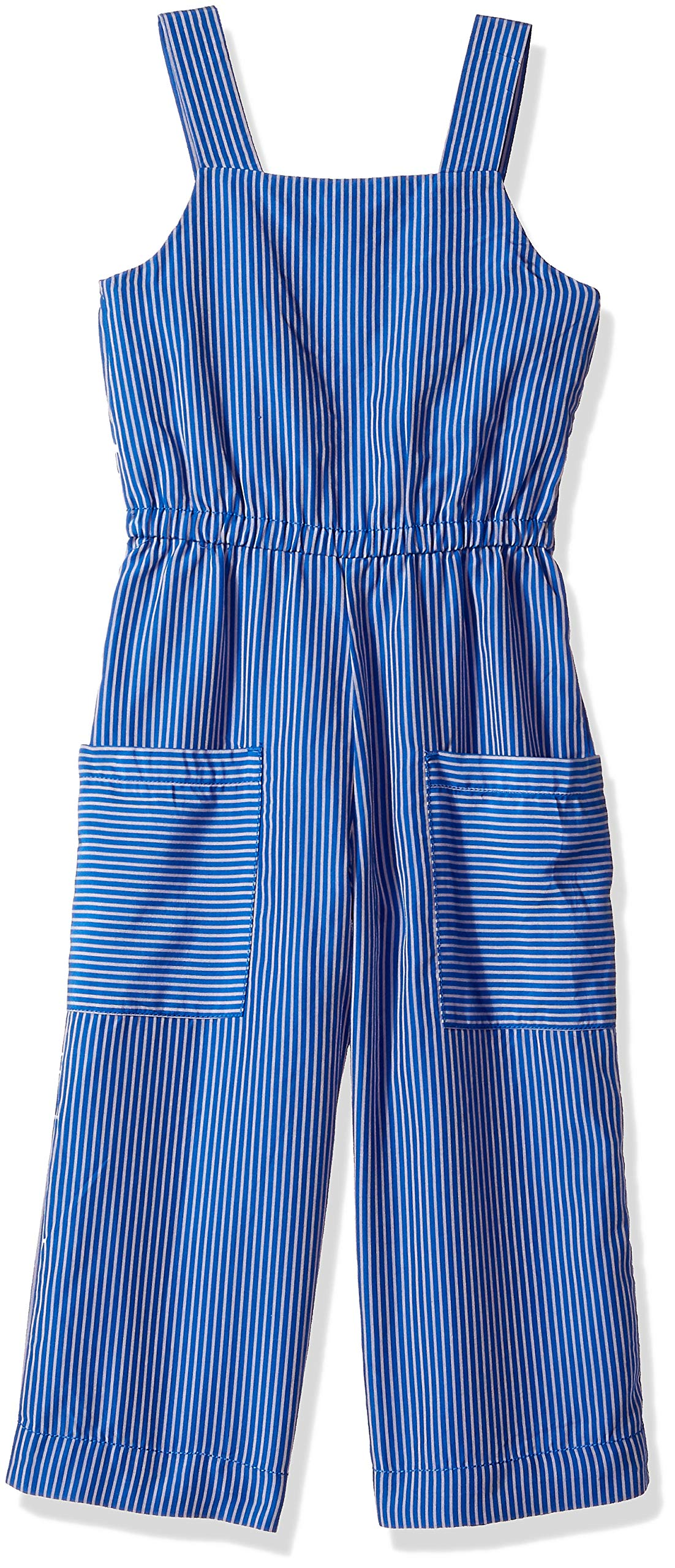 Gymboree Girls' Big Casual Knit Romper, Electric Blue, 5 by Gymboree (Image #1)