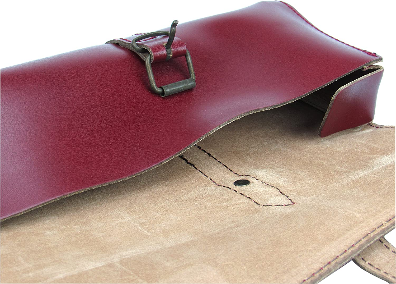 Trevor James Leather Flute Bag//Case Cover-Cherry Red