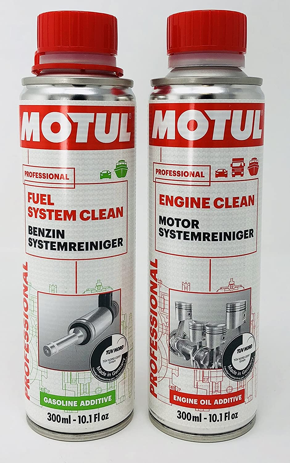 MOTUL DUO Aditivos Professional - Fuel system Clean + Engine Clean Motul 108122 108119
