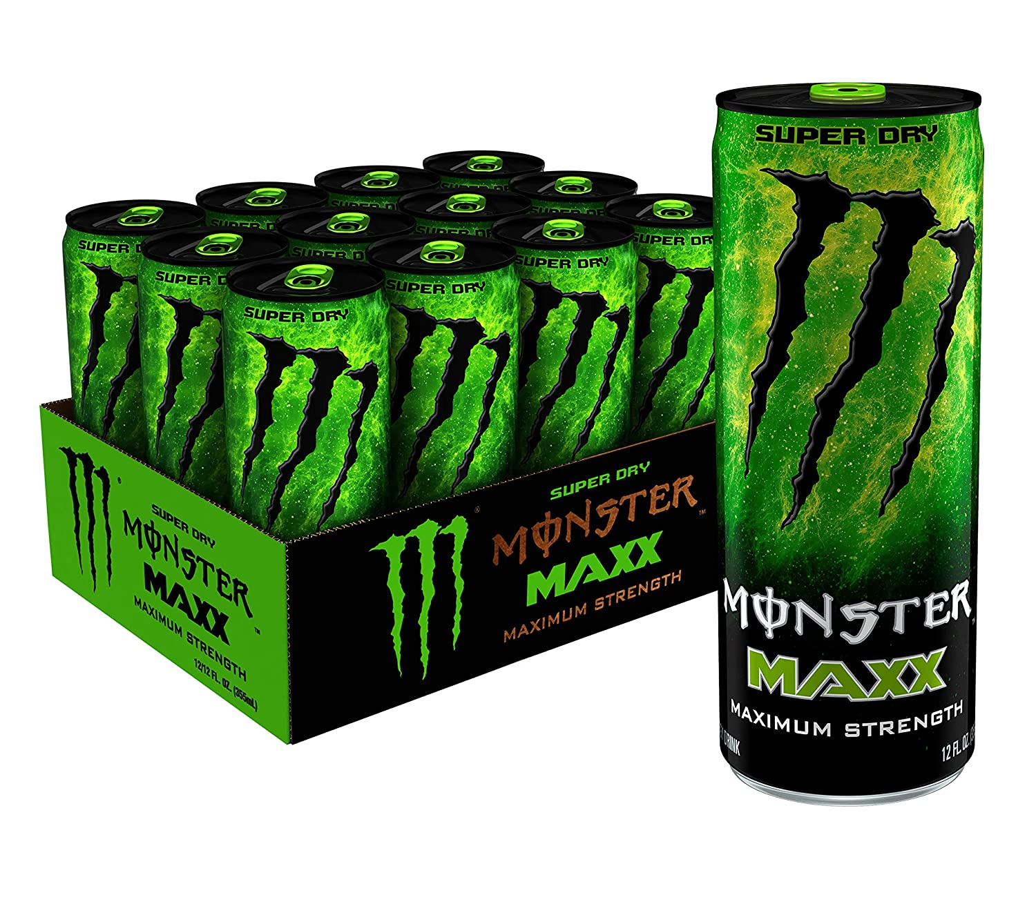 Amazon Com Maxx Monster Super Dry Maximum Strength Energy Drink 12 Ounce Pack Of 12 Grocery Gourmet Food