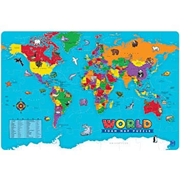 Amazon educational insights world foam map puzzle toys games educational insights world foam map puzzle gumiabroncs Image collections