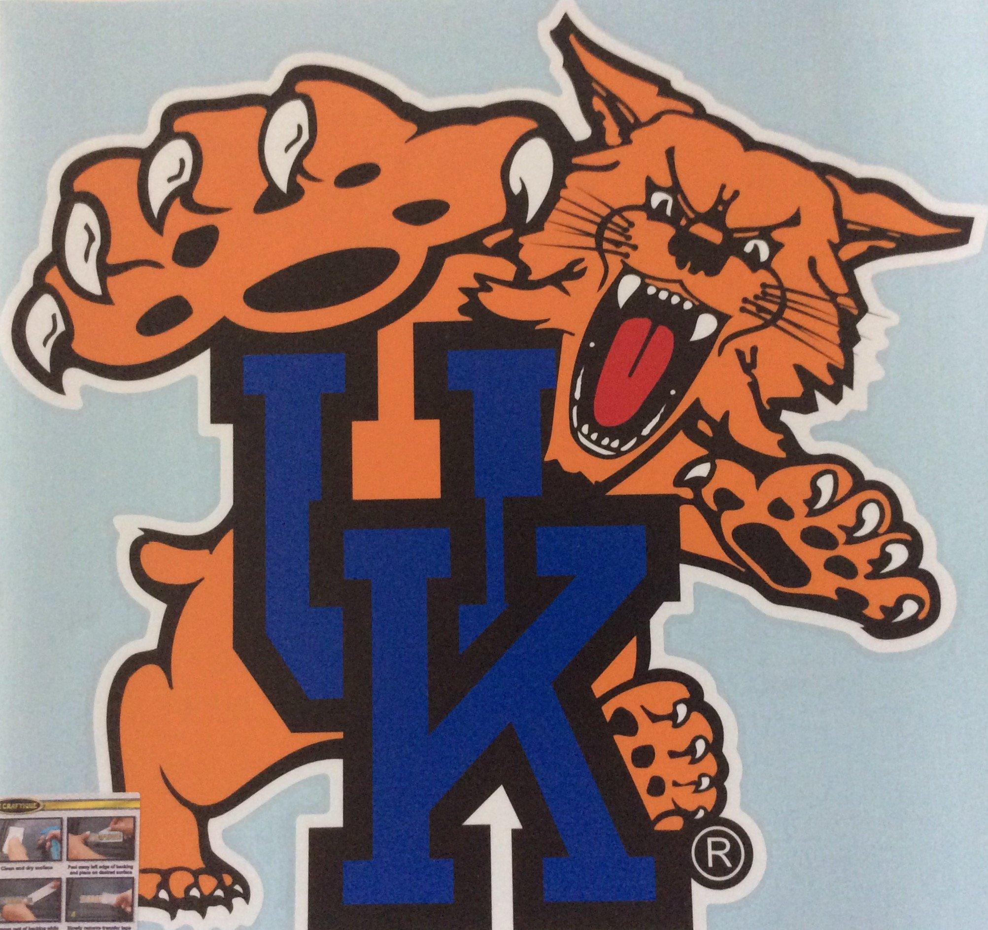 UK, Kentucky Wildcats, XL Premium Wildcat Decal, CORNHOLE, Auto, Made in The USA