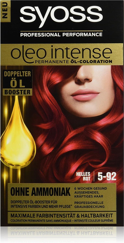 Syoss Oleo Intense Tinte para el pelo, 5-92 rojo claro, 3 ...